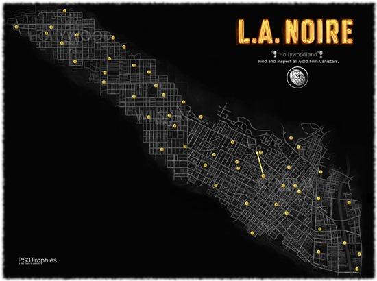 Карта поиска кинолент LA Noire карты