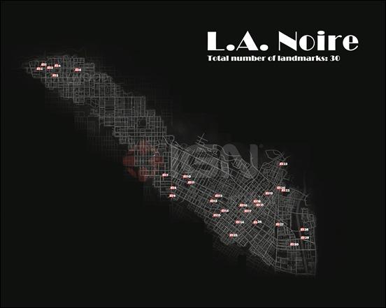 Карта достоприметчальностей LA Noire