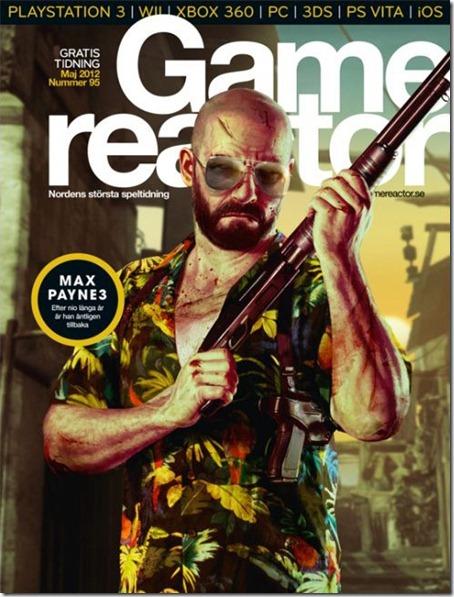 Журнал Game Reactor обложка Max Payne 3